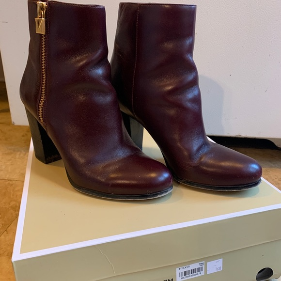 Margaret Bootie Leather Oxblood